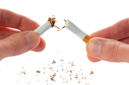 Stop smoking, break the habit
